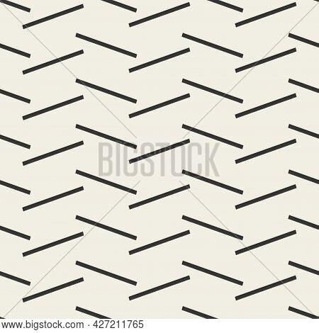 Vector Seamless Creative Geometric Pattern. Repeatable Lines - Endless Background