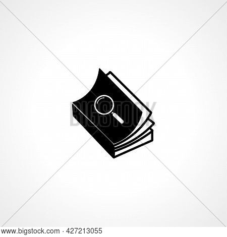 Book Icon. Book Isolated Simple Vector Icon.