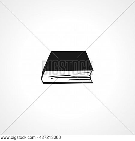 Book Icon. Books Isolated Simple Vector Icon.