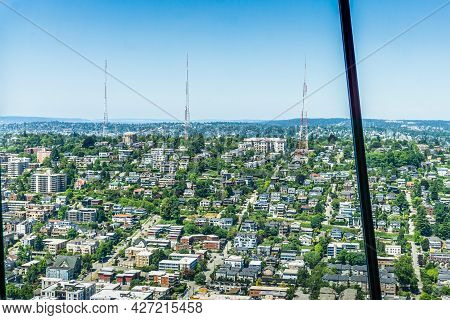 A View Of The Top Of Queen Anne Hill In Seattle, Washington.