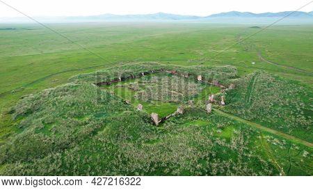 Salbyksky Kurgan In Khakassia, Russia. A Monument Of Antiquity, A Cult Of Ancestor Worship, A Histor