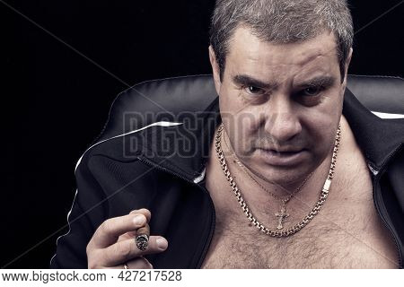 The Look Of A White Dangerous Man, Gang Danger And Threat, Alpha Male