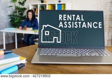 Rental Assistance Program Info On The Screen.