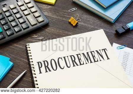 Information About Procurement Process In The Book On The Desk.