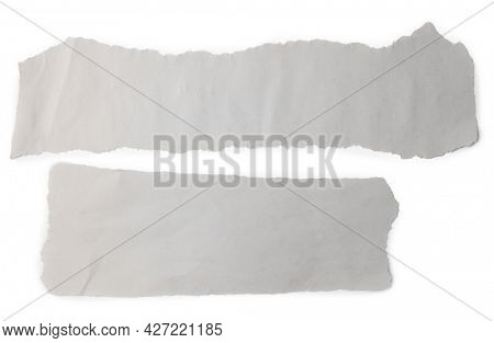 Two pieces of torn paper