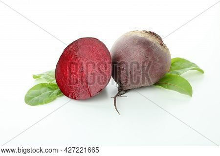 Ripe Red Beet Isolated On White Background