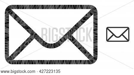 Triangle Mail Envelope Polygonal Symbol Illustration. Mail Envelope Lowpoly Icon Is Filled With Tria