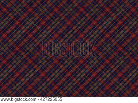 Seamless Tartan Plaid Pattern Background. Fabric Texture. Vector.