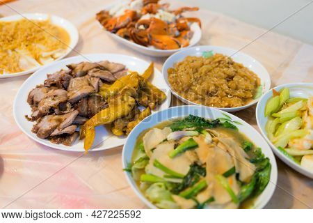Homemade dinner with Hong Kong style dishes