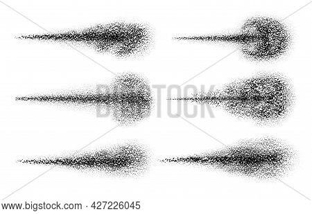 Spray Black. Water Particles Jet Texture. Spreading Powder, Mist, Steam Cloud Or Dust. Perfume, Aero