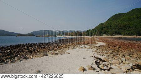 Sharp island in Hong Kong