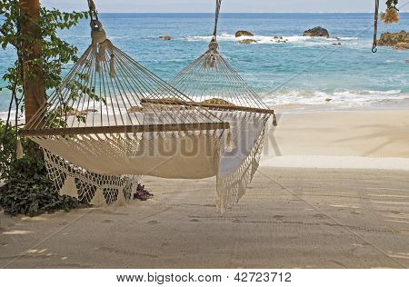 Hammock In The Shade By The Ocean