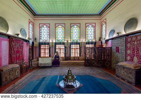 Crimea - August 2020: Interiors Of Bakhchisaray Palace