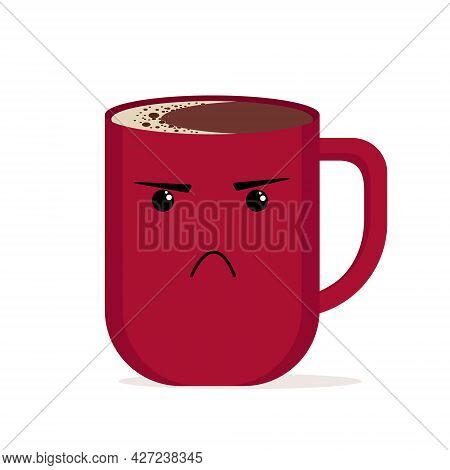 Illustration Of A Colored Cup With Emotions Of Anger And Aggression