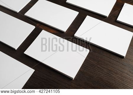 Blank Business Cards. Mockup For Branding Identity. Template For Graphic Designers Portfolios.