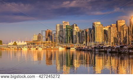 Vancouver, Canada  on July 1, 2019: Vancouver is the Third-largest metropolitan area in Canada with population of approximately 2.5million.