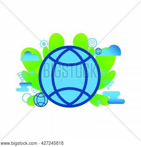 Global  Conection Illustration. Flat Vector Icon. Can Use For, Icon Design Element,ui, Web, App.
