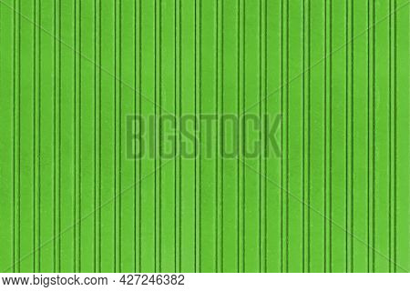 Green Corrugated Metal Background And Texture Surface Or Galvanize Steel