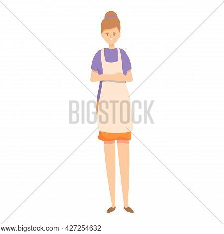 Housewife Icon Cartoon Vector. Kitchen Mom. Woman Household