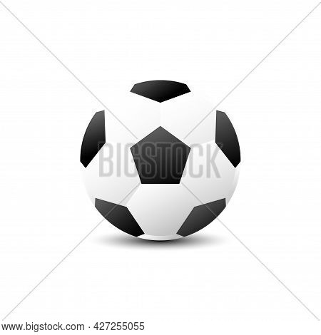 Illustration Art Design. Black And White Football Cartoon And Shadow. On Isolated White Background.