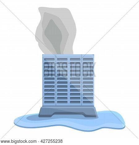 Broken Air Conditioner Compressor Icon Cartoon Vector. Repair Service. Home Cooling