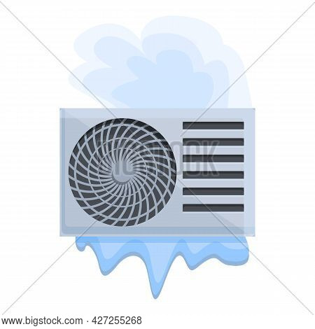 Air Conditioner Broken System Icon Cartoon Vector. Repair Maintenance. Cooling Compressor
