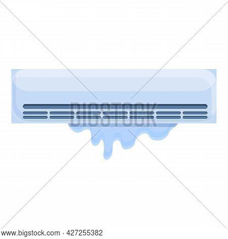 Fix Air Conditioner Icon Cartoon Vector. Home Maintenance. Air Conditioner Repair