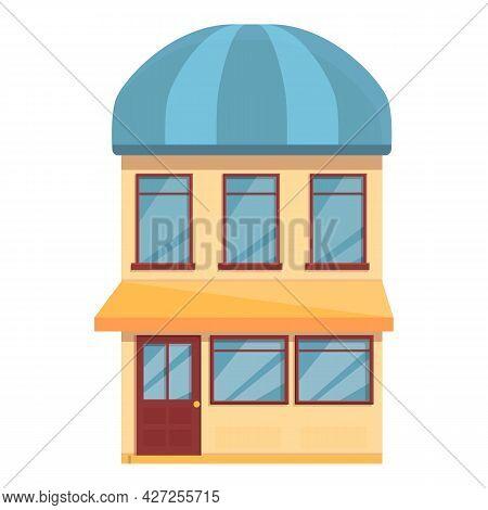 Small Street Cafe Icon Cartoon Vector. Drink Cafeteria. Coffee Shop