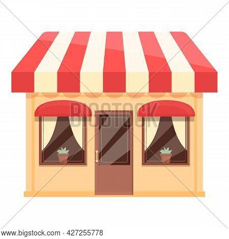 Kitchen Street Cafe Icon Cartoon Vector. Coffee Shop. Cafeteria Building
