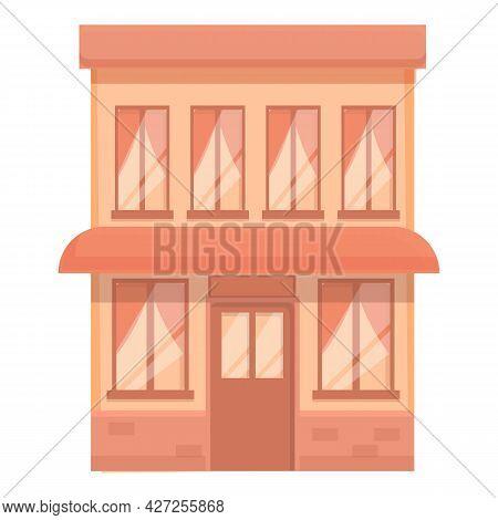 Bakery Street Cafe Icon Cartoon Vector. Coffee Shop. Cafeteria Store
