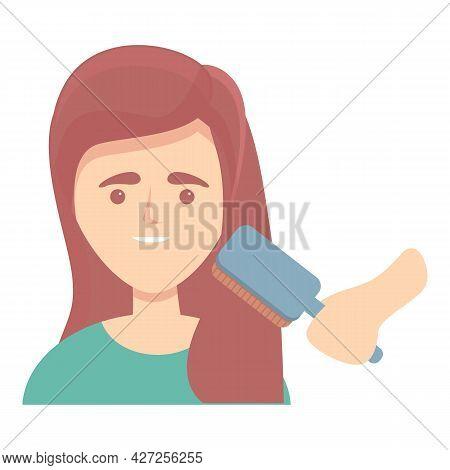 Woman Hair Care Icon Cartoon Vector. Girl Hairstyle. Female Shampoo
