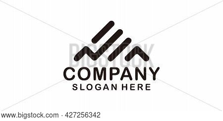 Minimalist Monogram Trendy A Letter Company Logo For Branding. Logo Can Be Used For Icon, Brand, Ide