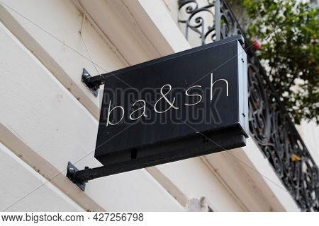 Toulouse , Occitanie France  - 06 25 2021 : Ba&sh Sign Brand Boutique And Text Logo For Store Fashio
