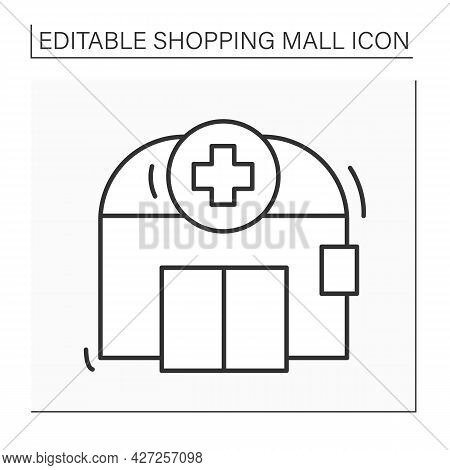 Pharmacy Line Icon. Conventional Prescription Filling, Compounding, Medical Equipment, Home Delivery