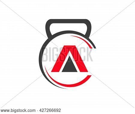 Gym Logo With A Letter. Fitness Logo With A Letter Concept.