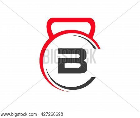 Fitness Logo With B Letter Concept. Gym Logo With B Letter.