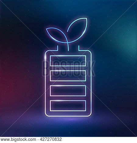 Rechargeable battery icon environmental friendly symbol