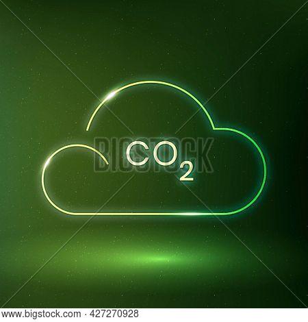 CO2 smog icon environmental conservation symbol