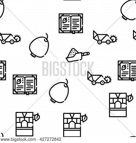 Herbalist Medical Vector Seamless Pattern Thin Line Illustration