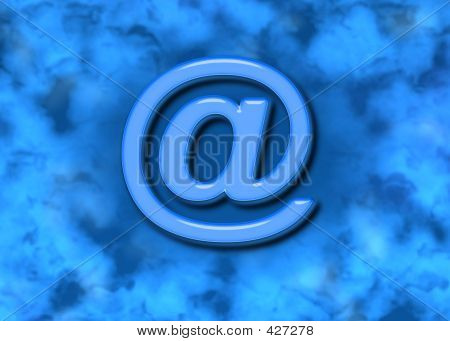 Blue Glass Email And Background
