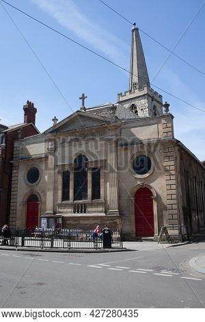 Saint John's Northgate Methodist Church In Gloucester In The United Kingdom, Taken On The 24th April