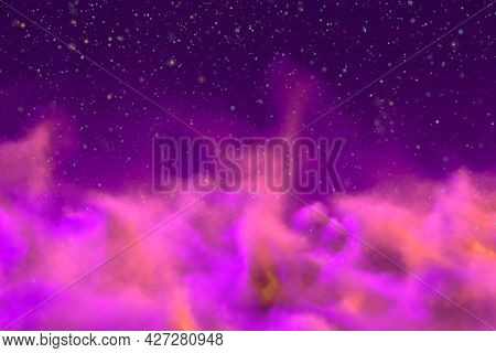 Abstract Background Creative Illustration Of Mystical Sky Concept With Snowflakes You Can Use For Ar