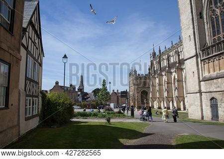 Views Of Gloucester Cathedral In Gloucestershire In The Uk, Taken On The 24th April 2021