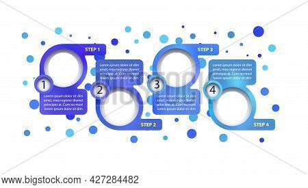 Blue Company Vector Infographic Template. Road Map Presentation Design Elements With Text Space. Dat