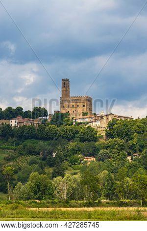 Public monument of Poppi Castle in Tuscany, Italy