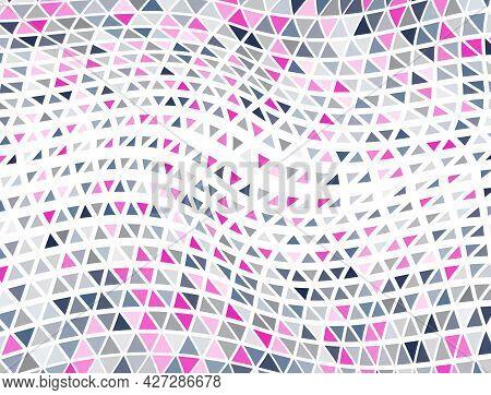 Modern Triangles Halftone Pattern. Triangular Elements Transition Banner Backdrop. Random