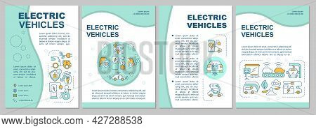 Ev Base Propositions Brochure Template. Flyer, Booklet, Leaflet Print, Cover Design With Linear Icon
