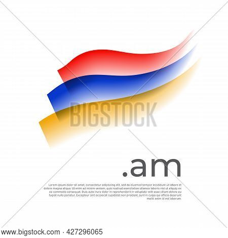 Armenia Flag Watercolor. Stripes Colors Of The Armenian Flag On A White Background. Vector Stylized