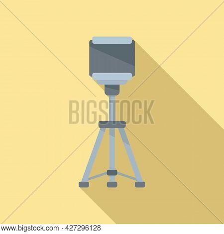 Smartphone Tripod Icon Flat Vector. Mobile Camera Stand. Phone Tripod
