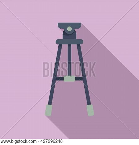 Studio Tripod Icon Flat Vector. Video Camera Stand. Digital Film Tripod